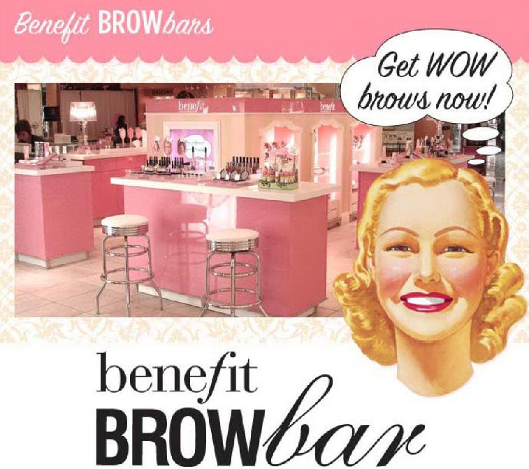 Benefit brow bars offer a number of services to make you feel and look